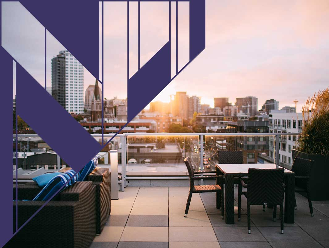 Rooftop views at Upper Ivy apartments