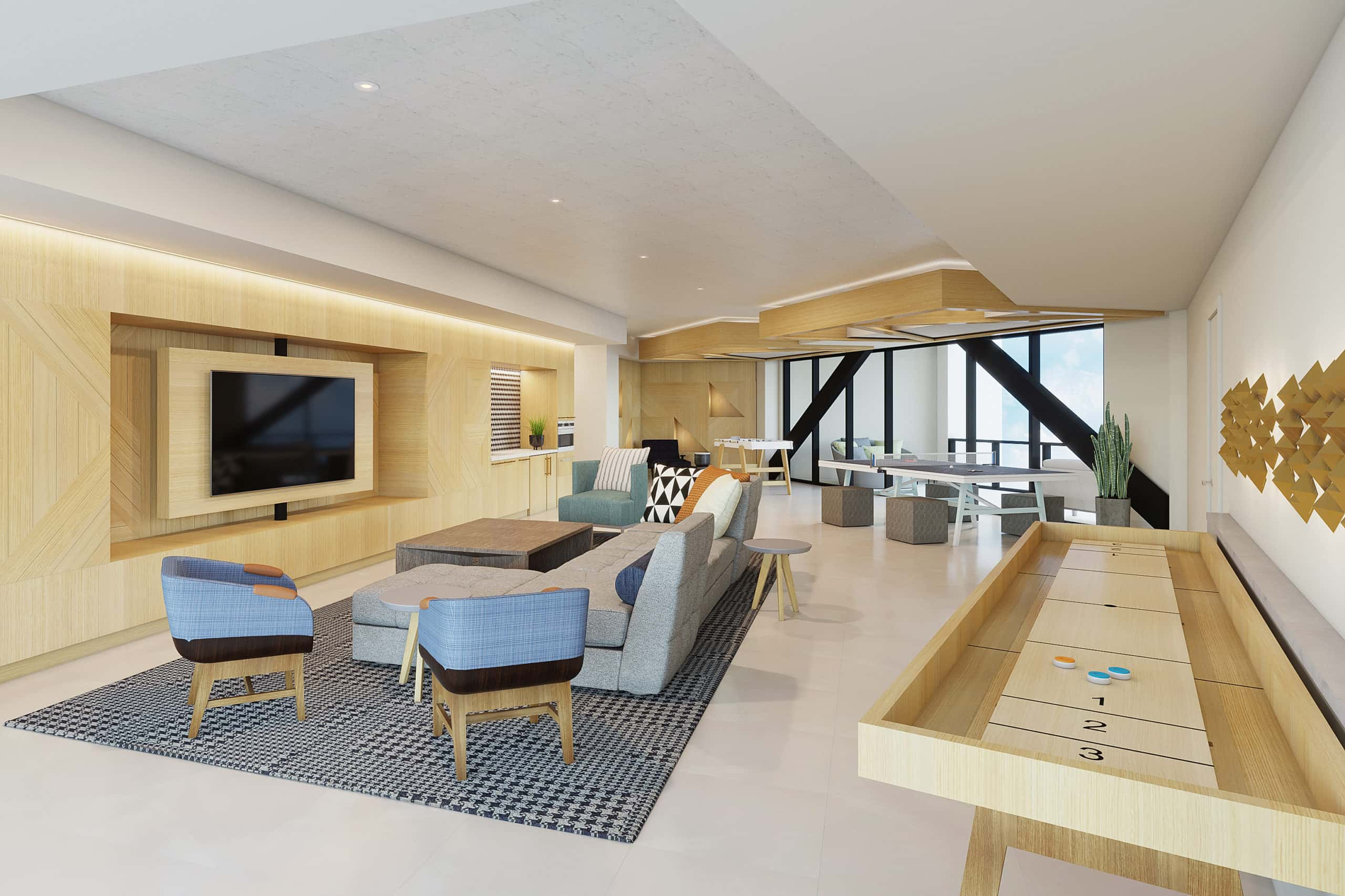 Upper Ivy Culver City Apartments - Residential Clubroom